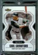 2007 Topps Finest #66 Carl Crawford Baseball Card Tampa Bay Devil Rays - Mint Condition - Shipped In Protective Display Case !!