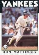 1986 Topps Don Mattingly Baseball Card #180