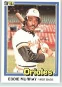 1981 Donruss #112 Eddie Murray Baltimore Orioles Baseball Card