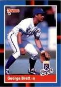 George Brett 1988 Donruss Baseball Card #102