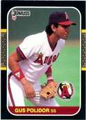 1987 Donruss #579 Gus Polidor - California Angels (Baseball Cards)