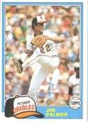 Jim Palmer Baltimore Orioles (Baseball Card) 1981 Topps #210