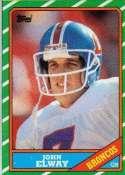 1986 Topps #112 John Elway - Denver Broncos (Football Cards)