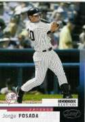 2004 Leaf #59 Jorge Posada - New York Yankees (Baseball Cards)
