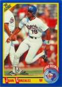 1990 Score Juan Gonzalez Rookie Baseball Card #637 - Shipped In Protective Display Case!