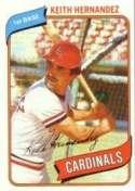 1980 Topps #321 Keith Hernandez Baseball Card