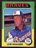 1975 Topps Lew Krausse Baseball Card #603