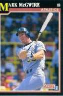 1991 Score Mark McGwire Baseball Card #324 - Shipped In Protective Display Case!