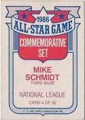 Mike Schmidt 1987 Topps Glossy Commemorative All-Stars Baseball Card #4