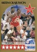 1990 NBA Hoops Basketball Card #23: Akeem Olajuwon (All-Star -Houston Rockets)
