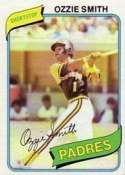 1980 Topps Ozzie Smith Baseball Card #393 - Shipped In Protective Display Case!