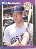 1989 Donruss #162 Rich Gedman Boston Red Sox Baseball Card