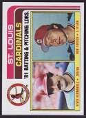 1982 Topps 186 Cardinals TL #{BA: Keith Hernandez #{Pitching: Bob F (Baseba...