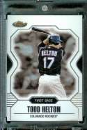 2007 Topps Finest #95 Todd Helton Baseball Card Colorado Rockies - Mint Condition - Shipped In Protective Display Case