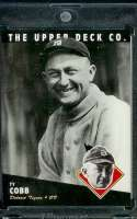 1994 Upper Deck All Time Heroes #30 Ty Cobb Detroit Tigers Baseball Card- Mint Condition - Shipped In Protective ScrewDown Display Case!