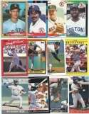 100 Assorted Boston Red Sox Baseball Cards Plus Twelve 9-Pocket Storage Pages (stores up to 216 cards)