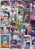 20 Assorted David Justice Collectible Baseball Cards