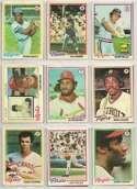 25 Different 1978 Topps Baseball Cards