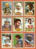 25 Assorted 1980 Topps Football Cards