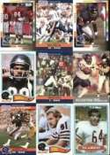 50 Different Chicago Bears 70's, 80's, 90's Football Cards
