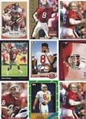 Steve Young 10 Card Lot (San Francisco 49ers)