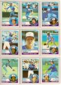1983 Topps Toronto Blue Jays Complete Team Set (25 Cards)