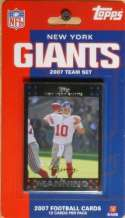 2007 Super Bowl Champion New York Giants Topps 12 Card Licensed Factory Sealed Team Set