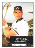 2003 Bowman Heritage Facsimile Signature #159 Javy Lopez - Atlanta Braves (Baseball Cards)