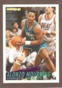 1994/1995 Fleer #27 Alonzo Mourning Charlotte Hornets Basketball Card