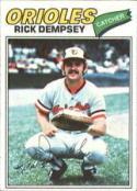 1977 Topps #189 Rick Dempsey Baltimore Orioles Baseball Card