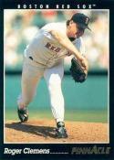 1993 Pinnacle #25 Roger Clemens Boston Red Sox Baseball Card