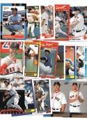 Lot of 100 Assorted Boston Red Sox Collectible Baseball Cards (cards from the past 30+ years)