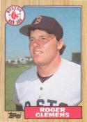 Roger Clemens 1987 Topps Baseball Card #340 (Boston Red Sox)