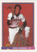 Rod Carew 1991 Bowman Baseball Card #5 (California Angels)