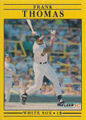 1991 Fleer #138 Frank Thomas Chicago White Sox Baseball Card