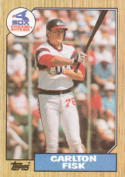 Carlton Fisk Chicago White Sox (Baseball Card) 1987 Topps #756