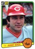 1983 Donruss #500 Johnny Bench Cincinnati Reds Baseball Card