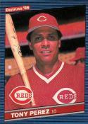 1986 Donruss #428 Tony Perez Cincinnati Reds Baseball Card