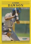 1991 Fleer #419 Andre Dawson Chicago Cubs Baseball Card
