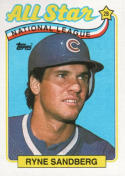 Ryne Sandberg 1989 Topps All-Star Baseball Card #387