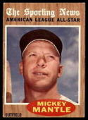 1962 Topps #471 Mickey Mantle AS Excellent