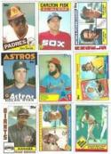 40 Different Baseball Cards from the 1980's - Shipped in Protective Display Album!