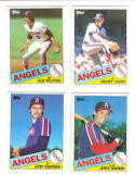 40 Different California Angels Baseball Cards from 1980-1989 - Shipped in Protective Display Album!