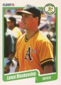 1990 Fleer #1 Lance Blankenship Athletics