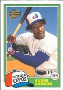 Andre Dawson 2004 Topps All-Time Fan Favorites Baseball Card #29 (1981)