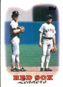 1988 Topps #21 Wade Boggs/Spike Owen Red Sox Red Sox Team Leaders