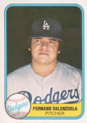 1981 Fleer Fernando Valenzuela Rookie Baseball Card #140 - Shipped In Protective Display Case!