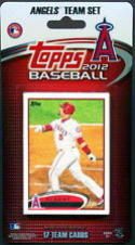 2012 Anaheim Angels Topps Factory Sealed Baseball 17 Card Team Set