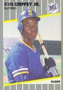 Ken Griffey Jr. 1989 Fleer Rookie Baseball Card 548 (Seattle Mariners) - Mint Condition