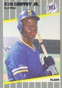 Ken Griffey Jr. 1989 Fleer Rookie Baseball Card 548 (Seattle Mariners) - Mint Condition